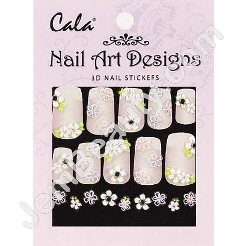 Jem Beauty Supply Cala Products 5327 Cala 3d Nail Art Stickers