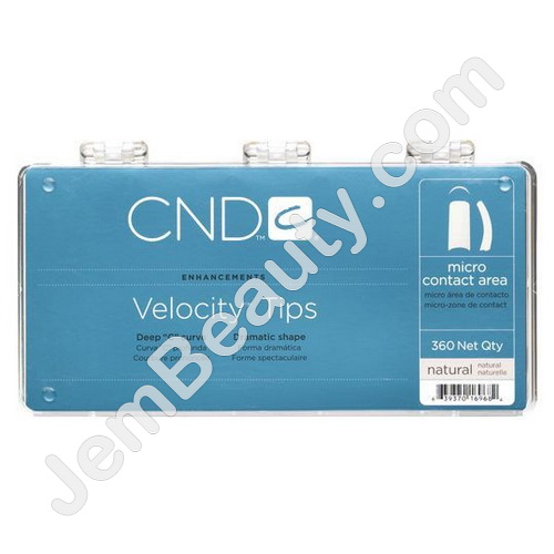 Cnd Velocity Tips Natural 360 Pack