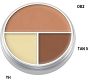 Kryolan Ultra Tri Color A Circle