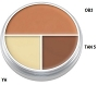 Kryolan Ultra Tri Color B Circle