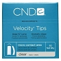 CND Velocity Tips Clear 7 50/Pack