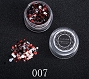 Nail Sequins Multi Black Red 07 1.5 g