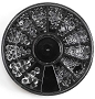 Rhinestone Glass Clear Wheel
