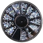 Rhinestone Glass AB Pointed 1 Wheel