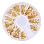 Nail 3D Metal Ocean Mix GOLD Wheel