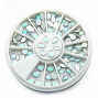 Nail Art Stones White AB Mix Wheel