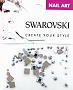 Swarovski Mixed Square L Chrome 57 pcs/Bag