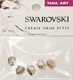 Swarovski Pear Rose Gold 5pcs/Pack