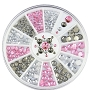 Rhinestone Silver Pink Grey Wheel