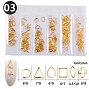 Metal Rivets Gold 6 Shapes 03 Pack
