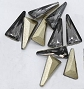 Nail Gem Triangle Black Diamond 10/Pack