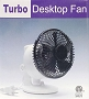 Mini Turbo Desktop Fan Black