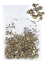 Rhinestones Multi Sz Gold Mine 1000/Pack
