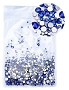 Rhinestones Multi Sz Blue 1440/Pack
