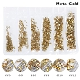 Rhinestones Multi Sz Metal Gold 1700/Pack