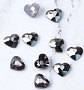 Gem Stone Heart Gun Black 10/Pack