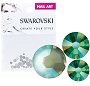 Swarovski Mixed DeLite Army Grn 70/Pack