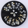 Rhinestone Mix Navette Pear Wheel
