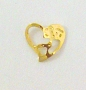 Nail Charm Gold Big Heart