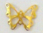 Nail Charm Gold Butterfly Big