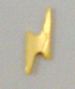 Nail Charm Gold Lightning Bolt