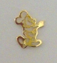 Nail Charm Gold Mickey Mouse