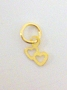 Nail Ring Gold Double Hearts