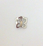 Nail Charm Silver Butterfly