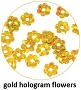 Art Club Hologram Flowers Gold