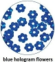Art Club Hologram Flowers Blue