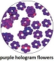 Art Club Hologram Flower Purple