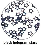 Art Club Hologram Stars Black