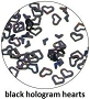 Art Club Hologram Hearts Black