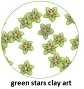 Art Club Clay Green Stars