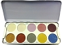 Kryolan Eye Shadow 10 Glamour Palette