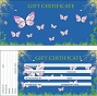 Gift Certificate Blue Butterfly