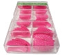 Large Glitter Tips 3 Hot Pink 110/Box