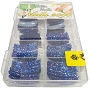 Large Glitter Tips 12 Navy 110/Box