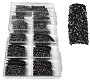 Caviar Nail Tips 3715 Black 100/Box